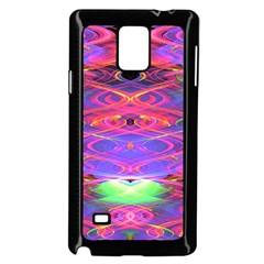 Neon Night Dance Party Pink Purple Samsung Galaxy Note 4 Case (black) by CrypticFragmentsDesign