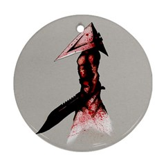 Pyramid Head Drippy Ornament (round)  by lvbart