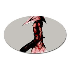Pyramid Head Drippy Oval Magnet by lvbart
