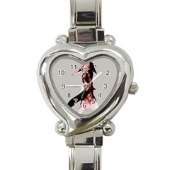 Pyramid Head Drippy Heart Italian Charm Watch by lvbart