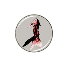 Pyramid Head Drippy Hat Clip Ball Marker by lvbart