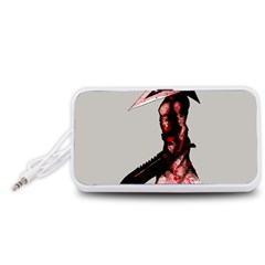 Pyramid Head Drippy Portable Speaker (White)  by lvbart