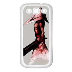 Pyramid Head Drippy Samsung Galaxy S3 Back Case (white) by lvbart