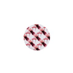 Flamingo Pineapple Tropical Pink Pattern 1  Mini Buttons by CrypticFragmentsColors