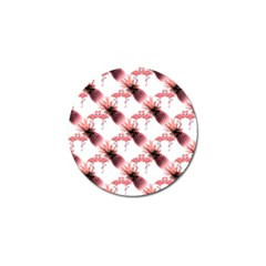 Flamingo Pineapple Tropical Pink Pattern Golf Ball Marker by CrypticFragmentsColors