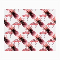 Flamingo Pineapple Tropical Pink Pattern Small Glasses Cloth