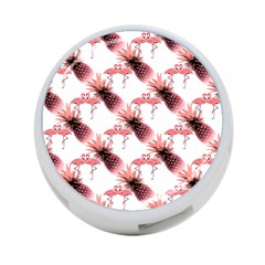Flamingo Pineapple Tropical Pink Pattern 4 Port Usb Hub (two Sides)  by CrypticFragmentsColors