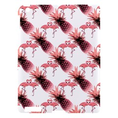 Flamingo Pineapple Tropical Pink Pattern Apple Ipad 3/4 Hardshell Case by CrypticFragmentsColors
