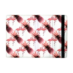 Flamingo Pineapple Tropical Pink Pattern Apple iPad Mini Flip Case by CrypticFragmentsColors