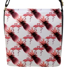 Flamingo Pineapple Tropical Pink Pattern Flap Messenger Bag (s) by CrypticFragmentsColors