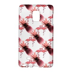 Flamingo Pineapple Tropical Pink Pattern Galaxy Note Edge