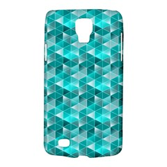 Aquamarine Geometric Triangles Pattern Galaxy S4 Active by KirstenStar