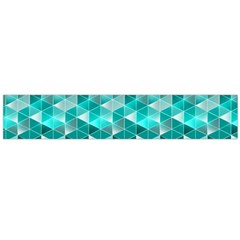 Aquamarine Geometric Triangles Pattern Flano Scarf (large) by KirstenStar