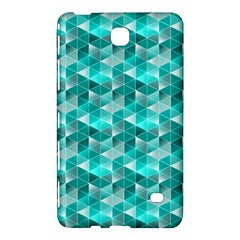Aquamarine Geometric Triangles Pattern Samsung Galaxy Tab 4 (7 ) Hardshell Case  by KirstenStar