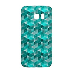 Aquamarine Geometric Triangles Pattern Galaxy S6 Edge
