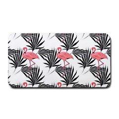 Flamingos Palmetto Fronds Tropical Pattern Medium Bar Mats by CrypticFragmentsColors