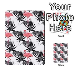 Flamingos Palmetto Fronds Tropical Pattern Multi Purpose Cards (rectangle)  by CrypticFragmentsColors