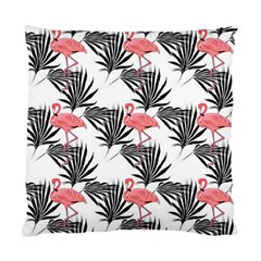 Flamingos Palmetto Fronds Tropical Pattern Standard Cushion Case (one Side) by CrypticFragmentsColors