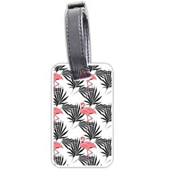 Flamingos Palmetto Fronds Tropical Pattern Luggage Tags (one Side)  by CrypticFragmentsColors