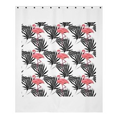 Flamingos Palmetto Fronds Tropical Pattern Shower Curtain 60  X 72  (medium)  by CrypticFragmentsColors