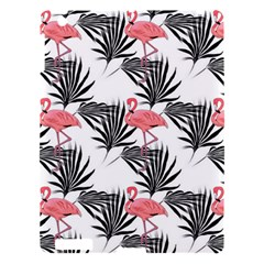 Flamingos Palmetto Fronds Tropical Pattern Apple Ipad 3/4 Hardshell Case by CrypticFragmentsColors