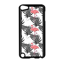 Flamingos Palmetto Fronds Tropical Pattern Apple Ipod Touch 5 Case (black) by CrypticFragmentsColors