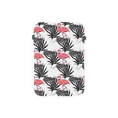 Flamingos Palmetto Fronds Tropical Pattern Apple Ipad Mini Protective Soft Cases by CrypticFragmentsColors