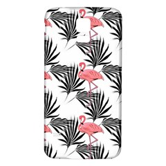 Flamingos Palmetto Fronds Tropical Pattern Samsung Galaxy S5 Back Case (White) by CrypticFragmentsColors