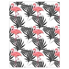 Flamingos Palmetto Fronds Tropical Pattern Drawstring Bag (large)