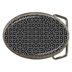 Black And White Ethnic Sharp Geometric  Belt Buckles by dflcprints