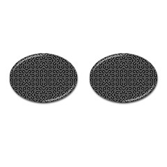 Black And White Ethnic Sharp Geometric  Cufflinks (oval) by dflcprints