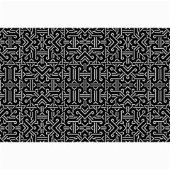 Black And White Ethnic Sharp Geometric  Collage 12  X 18  by dflcprints
