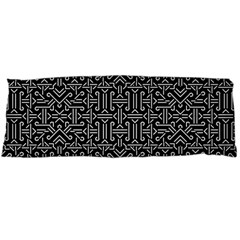 Black And White Ethnic Sharp Geometric  Body Pillow Case Dakimakura (two Sides) by dflcprints