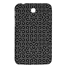 Black And White Ethnic Sharp Geometric  Samsung Galaxy Tab 3 (7 ) P3200 Hardshell Case  by dflcprints