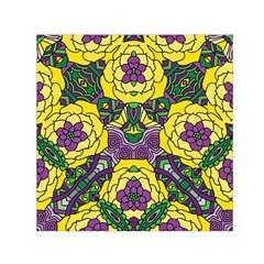 Petals, Mardi Gras, Bold Floral Design Small Satin Scarf (square) by Zandiepants