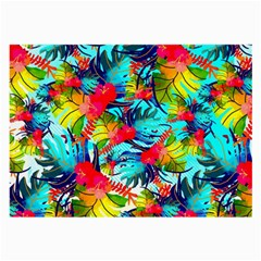 Watercolor Tropical Leaves Pattern Large Glasses Cloth by TastefulDesigns