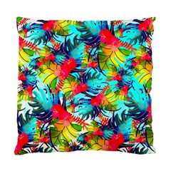 Watercolor Tropical Leaves Pattern Standard Cushion Case (two Sides) by TastefulDesigns