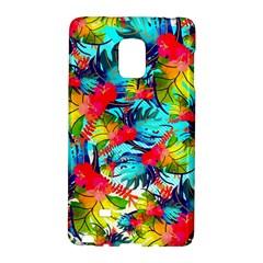Watercolor Tropical Leaves Pattern Galaxy Note Edge by TastefulDesigns