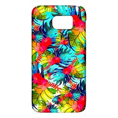 Watercolor Tropical Leaves Pattern Galaxy S6 by TastefulDesigns