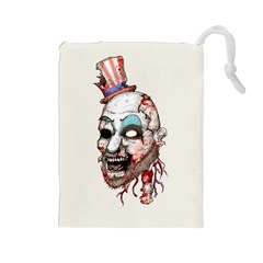 Captain Zombie Drawstring Pouches (large)  by lvbart