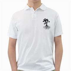 Joshua Tree Roots Men s Polo Shirt (White) by CarlosReyes