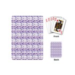 Floral Stripes Pattern Playing Cards (Mini)  Back