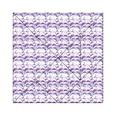 Floral Stripes Pattern Acrylic Tangram Puzzle (6  X 6 ) by dflcprints