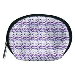 Floral Stripes Pattern Accessory Pouches (medium)  by dflcprints