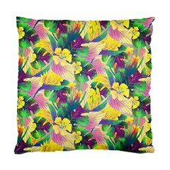 Tropical Flowers And Leaves Background Standard Cushion Case (two Sides) by TastefulDesigns