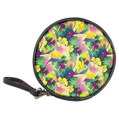 Tropical Flowers And Leaves Background Classic 20 Cd Wallets by TastefulDesigns