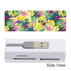 Tropical Flowers And Leaves Background Memory Card Reader (stick)  by TastefulDesigns