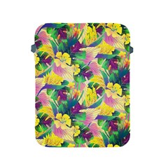 Tropical Flowers And Leaves Background Apple Ipad 2/3/4 Protective Soft Cases by TastefulDesigns