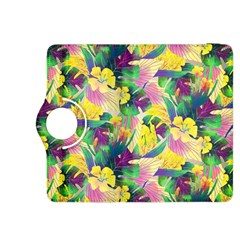 Tropical Flowers And Leaves Background Kindle Fire HDX 8.9  Flip 360 Case by TastefulDesigns