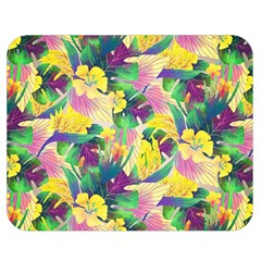 Tropical Flowers And Leaves Background Double Sided Flano Blanket (medium)  by TastefulDesigns
